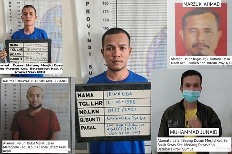 Lima tahanan Badan Narkotika Nasional (BNN) Sumut berhasil kabur dari sel tahanan pada Minggu (16/5/2021) dinihari setelah menyiram petugas dengan air cabai. (KOMPAS.com/Istimewa)
