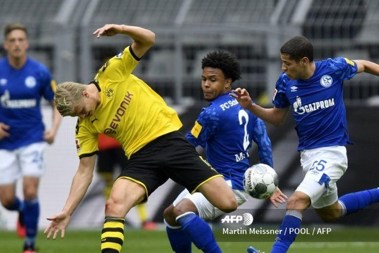 Borussia Dortmund vs Schalke 04 di Signal Iduna Park, Sabtu  (16/5/2020), pada Bundesliga 2019-2020.