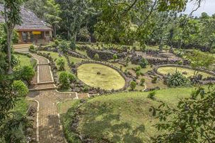 Taman Purbakala Cipari di Kuningan, Jawa Barat.