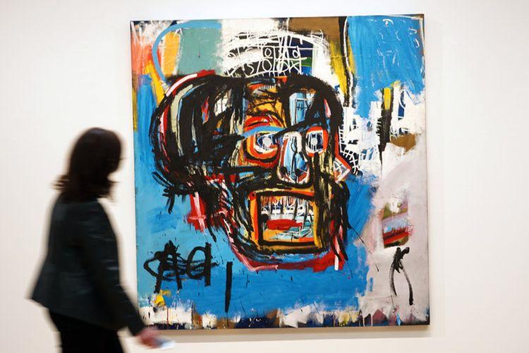 Karya Untitled yang dibuat seniman asal Amerika Serikat Jean-Michel Basquiat di tahun 1982, terjual seharga Rp 1,48 triliun dalam lelang yang digelar rumah lelang Sotheby, di New York, Kamis malam (18/5/2017).