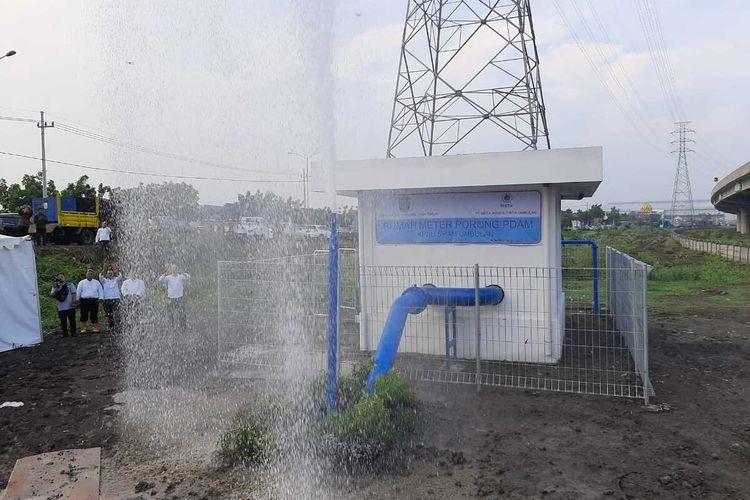 Rumah meter SPAM Umbulan di Desa Porong Kecamatan Porong Sidoarjo, Jawa Timur.