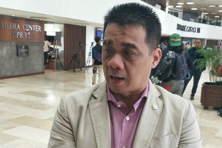 Ketua DPP Partai Gerindra Ahmad Riza Patria saat ditemui di Kompleks Parlemen, Senayan, Jakarta, Rabu (25/4/2018).