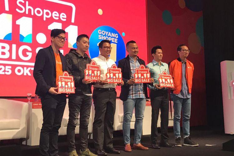 Konferensi Pers Shopee 11.11 Shopping Day di Jakarta, Rabu (24/10/2018)