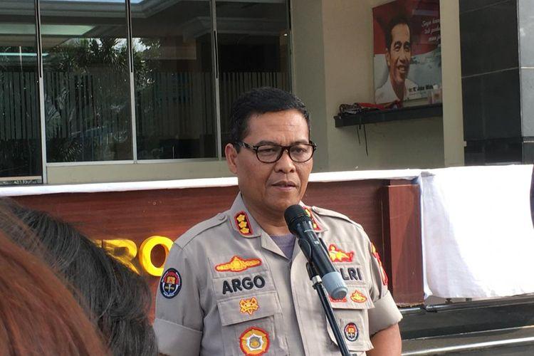 Kepala Bidang Humas Polda Metro Jaya Kombes Argo Yuwono di Polda Metro Jaya, Jakarta Selatan, Kamis (7/11/2019).