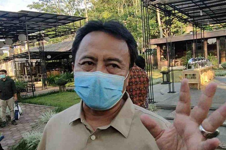 Sekretaris Daerah Kabupaten Sumedang Herman Suryatman pastikan tidak ada klaster PTM Terbatas di Sumedang, Jumat (24/9/2021). AAM AMINULLAH/KOMPAS.com