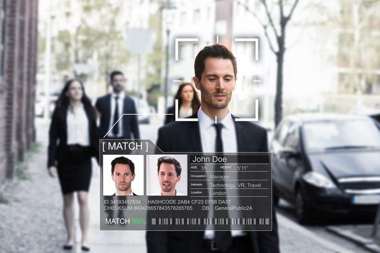 Ilustrasi Face Recognition Technology atau teknologi pengenal wajah. (Shutterstock)