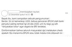 Pencairan BLT UMKM Rp 2,4 Juta Disebut Paling Lambat 28 Desember, Benarkah?