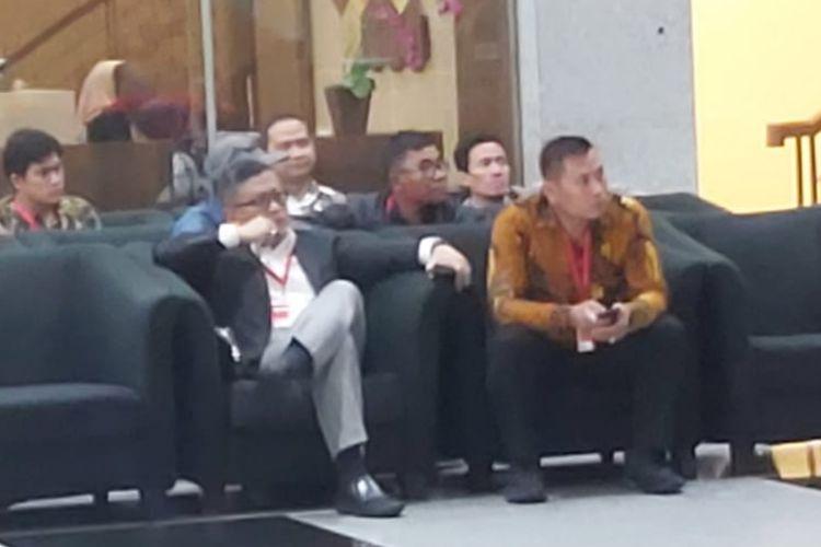 Sekretaris Jenderal PDI Perjuangan Hasto Kristiyanto di Gedung Merah Putih KPK, Jumat (24/1/2020).
