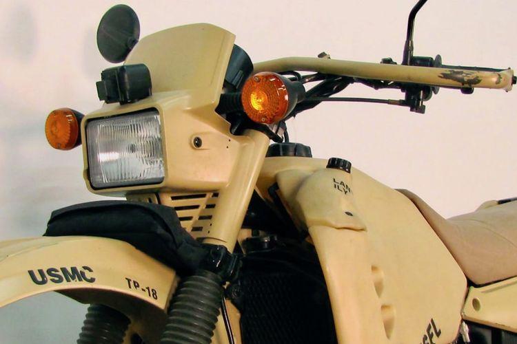 HDT M1030M1 motor trail dengan mesin diesel dari basis Kawasaki KLR 650