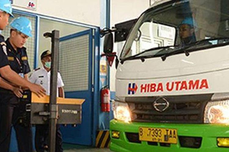 Fasilitas uji KIR Hino(Kompas.com/HAM)