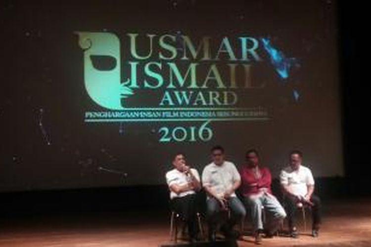 Konferensi pers Usmar Ismail Award 2016 di gedung Pusat Perfilman Usmar Ismail, Jakarta Selatan, Jumat (15/1/2016) sore.