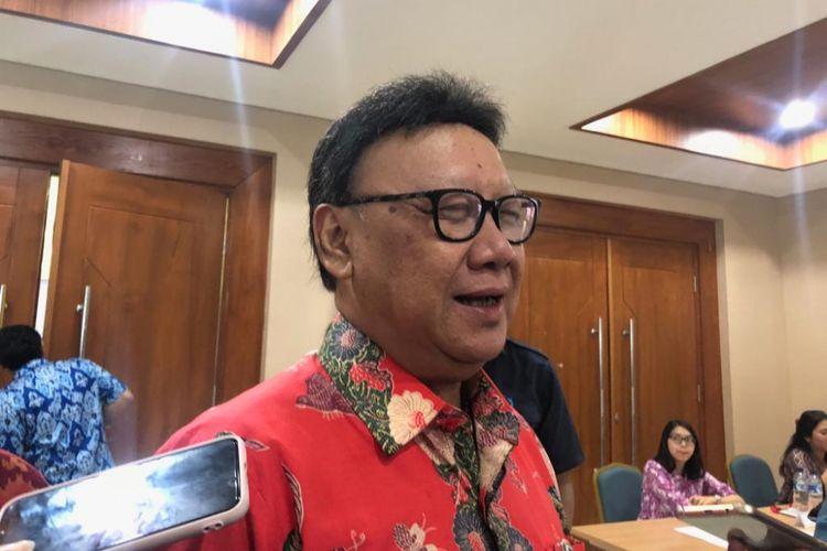 Menteri Dalam Negeri Tjahjo Kumolo di Kantor BPSDM Kemendagri, Senin (26/11/2018).