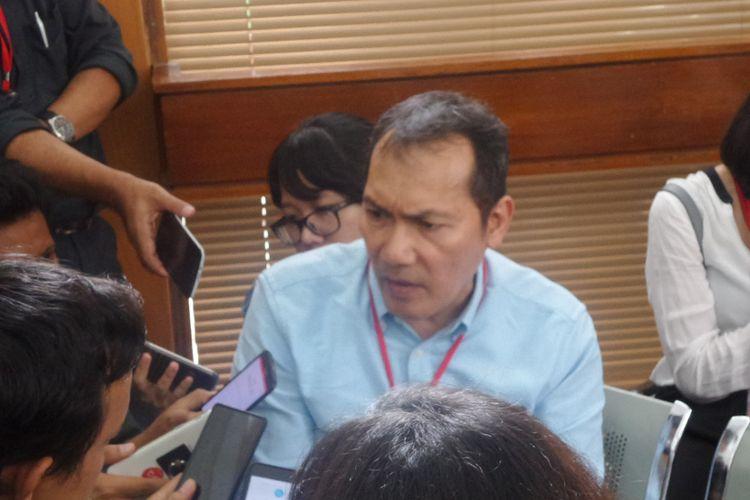 Wakil Ketua KPK Saut Situmorang di Pengadilan Negeri Jakarta Selatan, Selasa (26/9/2017).