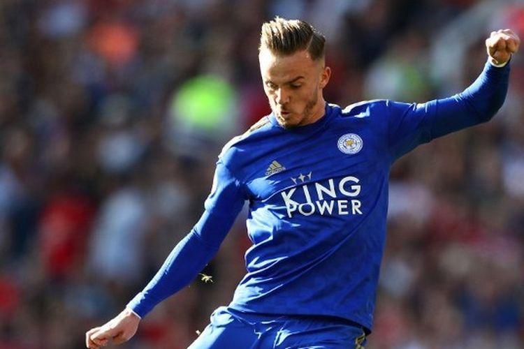 Pemain Leicester City yang menjadi incaran Manchester United, James Maddison.