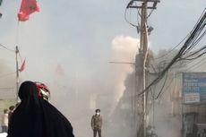 Panel Tiang Listrik di Jalan WR Supratman Ciputat Terbakar
