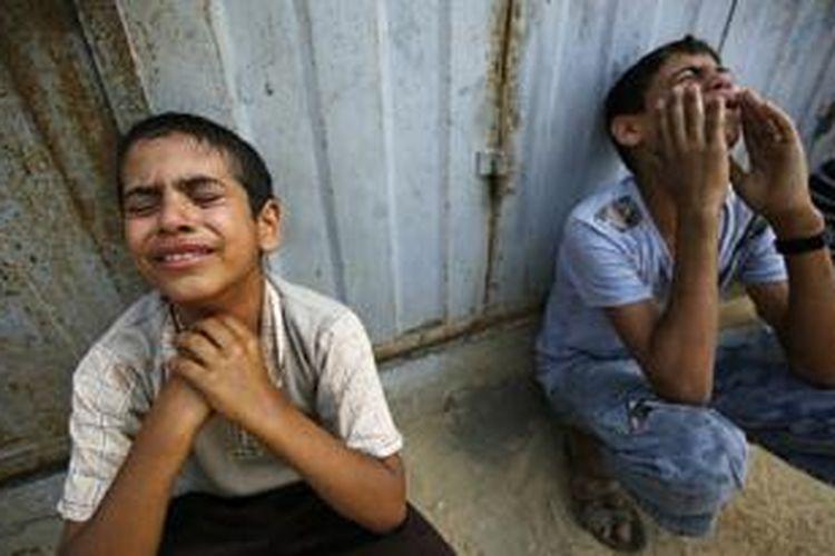 Sebanyak 800 orang warga Palestina tewas dalam serangan Israel, sebagian adalah anak-anak