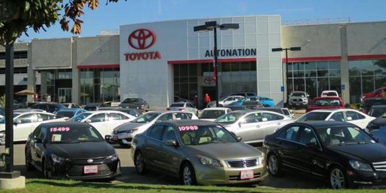 Ilustrasi diler Toyota di Amerika.