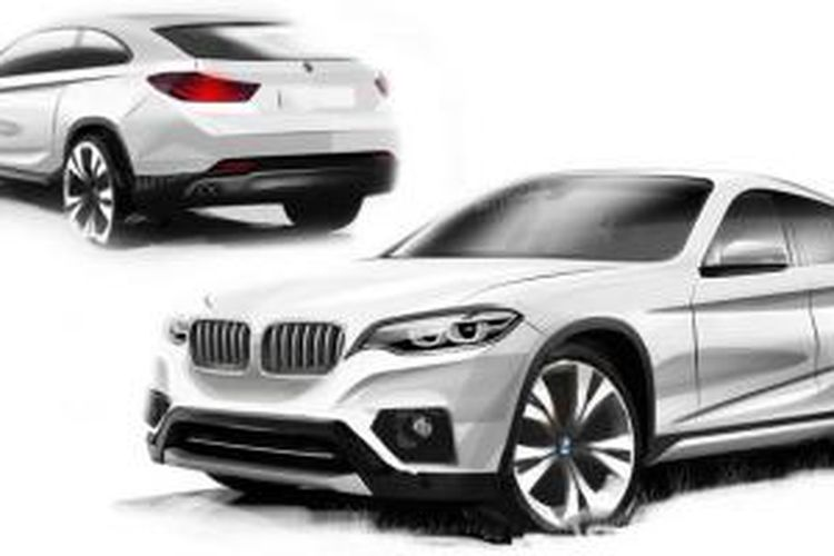 Terkaan digital BMW X2.