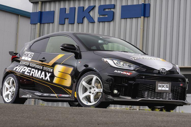 Toyota GR Yaris dengna body kit HKS