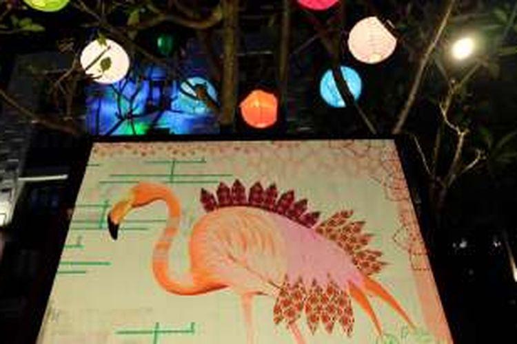 Lukisan karya Irene Hoff yang ditampilkan dalam oameran Artist Playground di Pullman Bali Legian Nirwana.