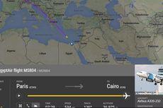 Flightradar24 Rekam Posisi Terakhir Pesawat EgyptAir Sebelum Hilang Kontak