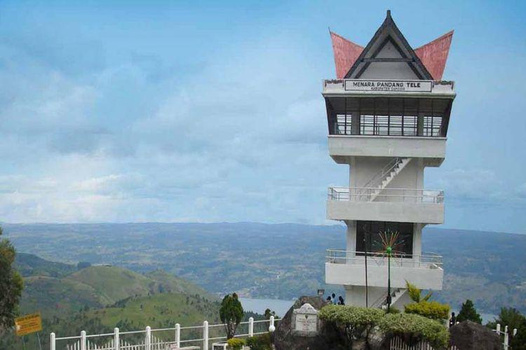 Menara Pandang Tele di Kabupaten Samosir.