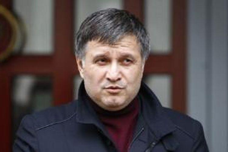 Menteri Dalam Negeri Ukraina Arsen Avakov di Kyiv