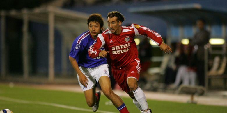 Laga Yokohama F Marinos Vs PSM Makassar pada fase grup Liga Champions Asia 2005.