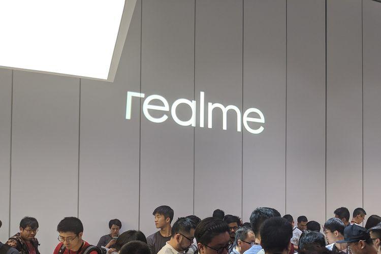 Suasana peluncuran Realme X di Beijing, China, Kamis (16/5/2019).