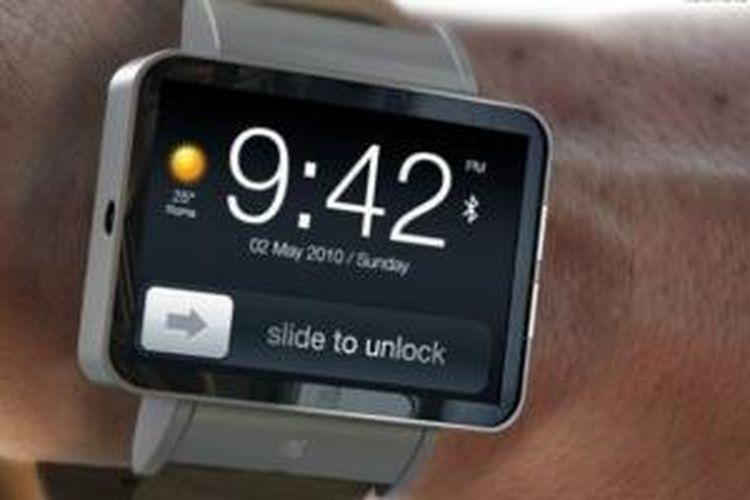 Ilustrasi jam tangan pintar Apple iWatch