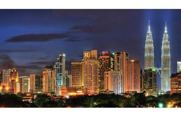 Panorama kota Kuala Lumpur, Malaysia.