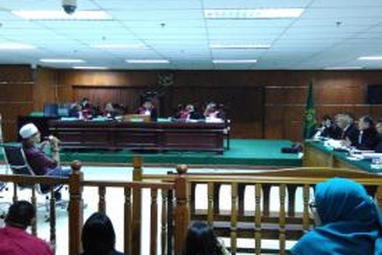 M Yagari Bhastara bersaksi dalam sidang perkara dengan terdakwa Otto Cornelis Kaligis di Pengadilan Tipikor, Jakarta, Senin (28/9/2015) malam.