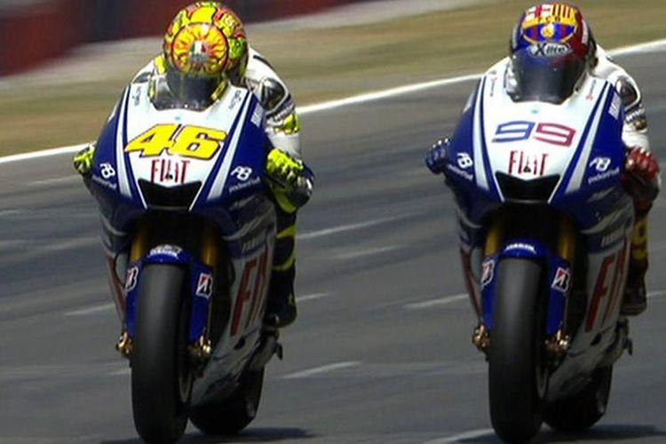 Rossi vs Lorenzo Catalunya 2009