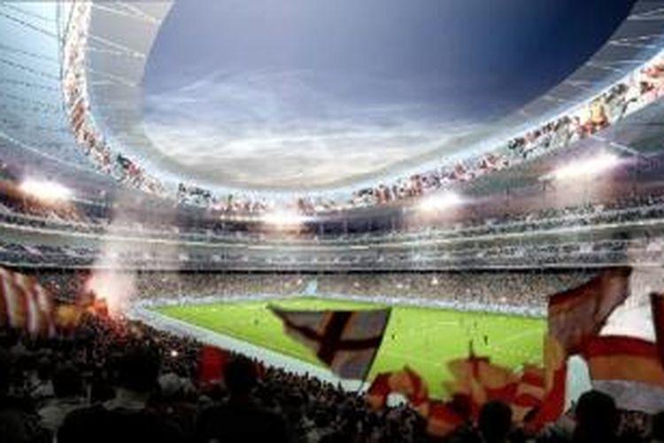 Stadio Della Roma akan digunakan secara resmi pada musim laga 2016/2017 mendatang.