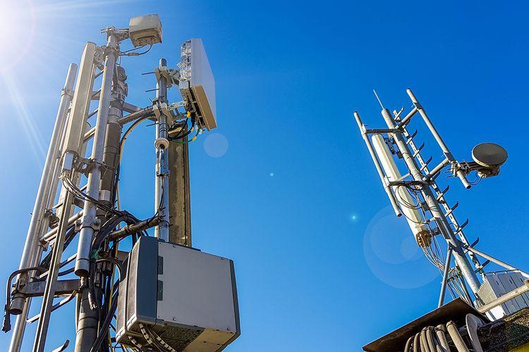 Ilustrasi menara BTS 5G