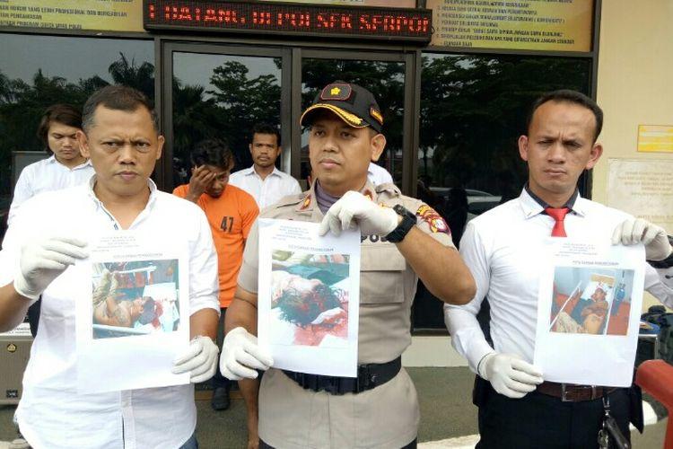 Polisi Sektor (Polsek) Serpong menangkap W dan DW, pelaku pengeroyok, Agus, tukang parkir minimarket di Jalan Raya Sektor 1.1 BSD,  Rawabuntu, Serpong, Tangerang Selatan, Kamis (16/1/2020) malam.