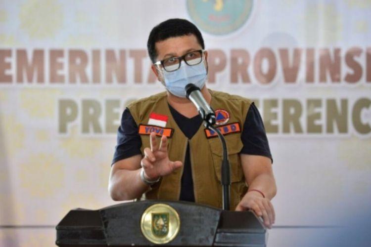 Juru Bicara (Jubir) Satgas Penanganan Covid-19 Riau dr Indra Yovi.