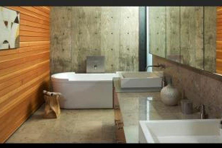 Adanya kemungkinan menampilkan pola geometris buatan dari beton dan garis-garis kayu yang menarik dan cantik.