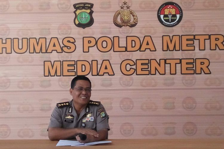 Kabid Humas Polda Metro Jaya Kombes Argo Yuwono saat di Mapolda Metro Jaya, Sabtu (22/4/2017).