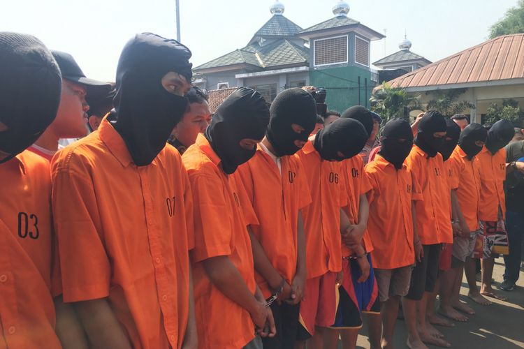 11 Tersangka Anggota Geng Motor Tambun 45 Diancam Hukuman Penjara 12 Tahun