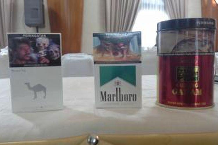 Bungkus rokok yang sudah disertai gambar seram (pictorial health warning/PHW)