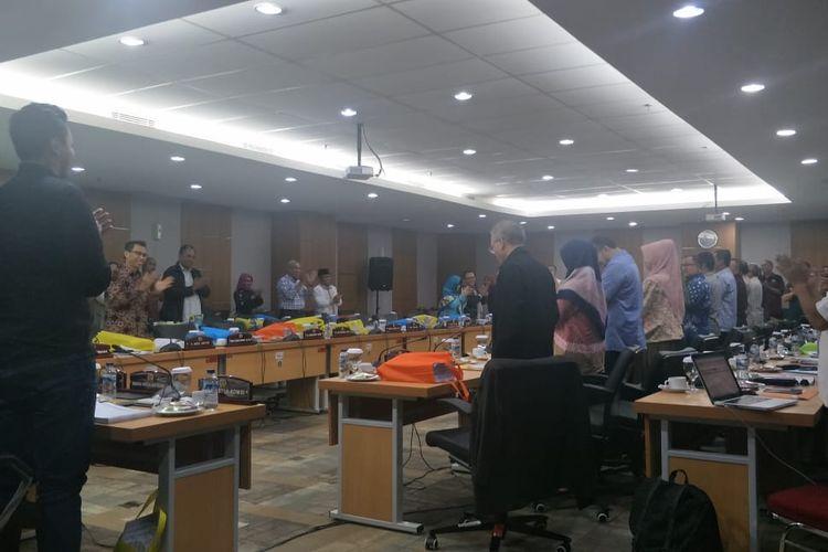 Rapat pembahasan RAPBD DKI 2020 di Komisi E DPRD DKI, Sabtu (7/12/2019).
