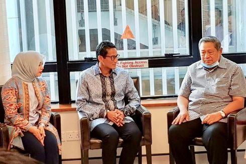 Didampingi Istri dan Ibunya, Sandiaga Jenguk Ani Yudhoyono
