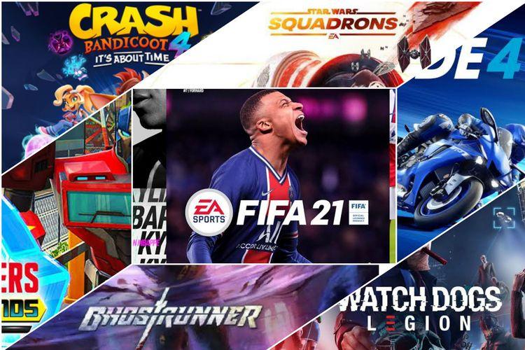 Ilustrasi 7 game yang bakal dirilis di bulan Oktober.