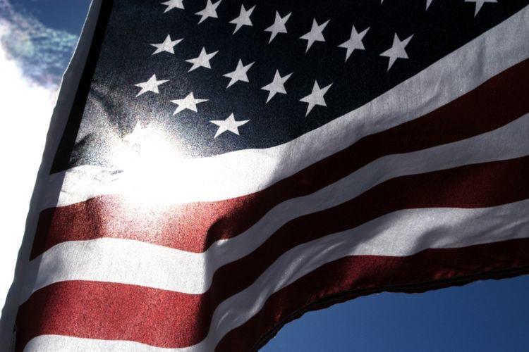 Ilustrasi bendera AS.
