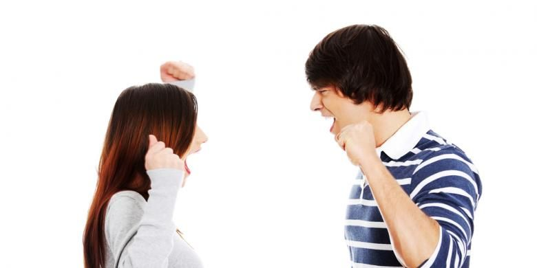 Ilustrasi pertengkaran suami-istri.