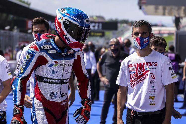 Pertamina Mandalika SAG Team sambut Hari Kemerdekaan RI pada Moto2 Austria dengan seragam khusus