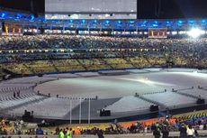 Hujan Deras Jelang Upacara Penutupan Olimpiade Rio 2016
