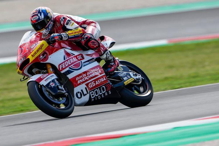 Fabio Di Giannantonio saat berlaga pada Moto2 San Marino 2021