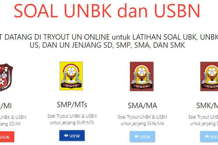 Ilustrasi Soal Try Out UNBK dan USBN Dinas Pendidikan